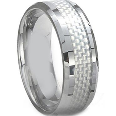 COI Cobalt Chrome Ring With Carbon Fiber - CR2287(Size:US5)