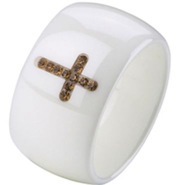 (Limited Offer!)COI Ceramic Ring With CZ-TG2374(US8.5)
