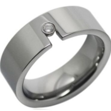COI Tungsten Carbide Cubic Zirconia Ring - TG2401A