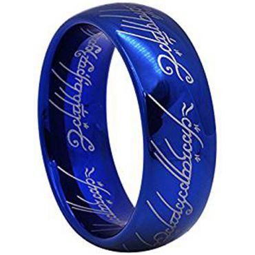 COI Blue Titanium Lord Of The Ring Dome Court Ring-1796