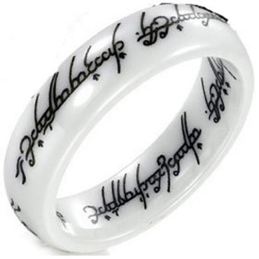 COI White Ceramic Lord of The Ring Ring - TG2755