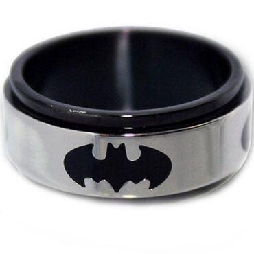 COI Tungsten Carbide Batman Wedding Band Ring - TG2960