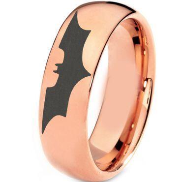 COI Rose Titanium Batman Dome Court Ring - 3382