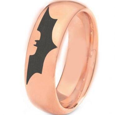 COI Rose Tungsten Carbide BatMan Dome Court Ring - TG3382