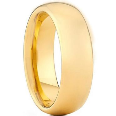 *COI Gold Tone Tungsten Carbide Dome Court Ring - TG3444AA