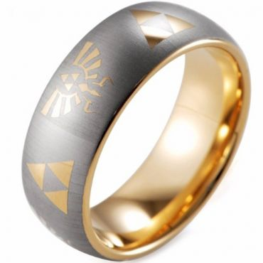 COI Gold Tone Tungsten Carbide Legend of Zelda Ring - TG3564