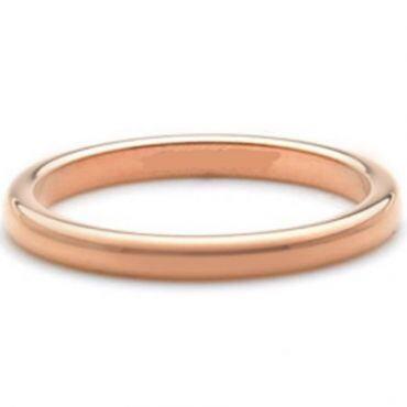 COI Rose Titanium Dome Court Wedding Band Ring - JT3702
