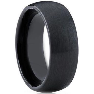 COI Black Ceramic Dome Court Ring - TG3784