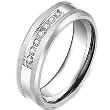 COI Tungsten Carbide Ring With Cubic Zirconia - TG3799