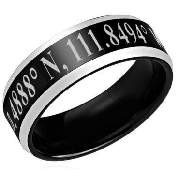 COI Titanium Black Silver Custom Coordinate Ring-3939