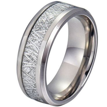 COI Tungsten Carbide Ring With Meteorite - TG4190