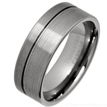 *COI Titanium Offset Groove Pipe Cut Flat Ring - JT3719