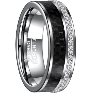 COI Tungsten Carbide Carbon Fiber & Zirconia Ring-TG4540