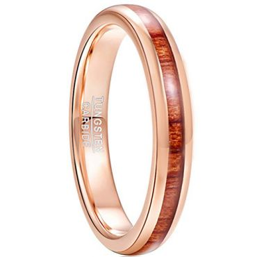 COI Rose Tungsten Carbide Ring With Wood-TG5027