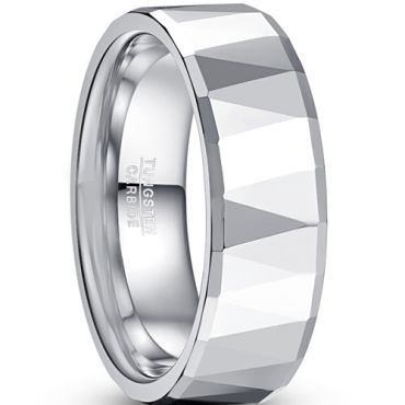 COI Tungsten Carbide Faceted Ring-TG5049