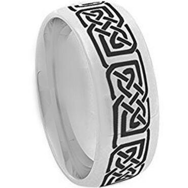 COI Tungsten Carbide Celtic Dome Court Ring - TG873