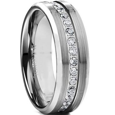 COI Tungsten Carbide Cubic Zirconia Ring-TG5124