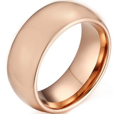 **COI Rose Tungsten Carbide Dome Court Ring-TG5171