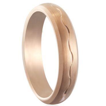 COI Rose Tungsten Carbide Wedding Band Ring-TG5179
