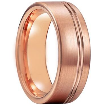 COI Rose Tungsten Carbide Offset Groove Ring - TG5210