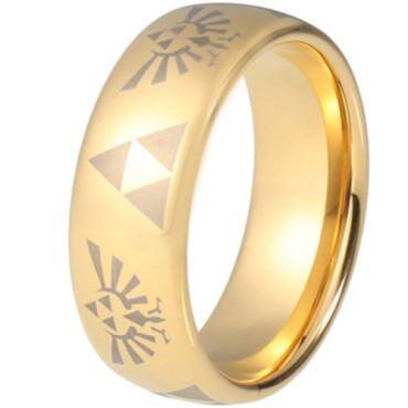 COI Gold Tone Tungsten Carbide Legend of Zelda Ring - TG5216